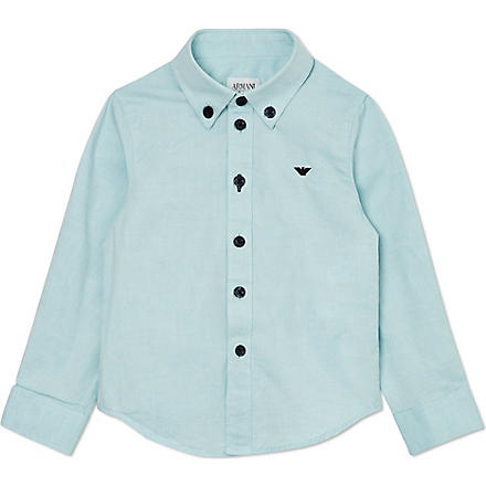 ARMANI JUNIOR Oxford shirt 2-8 years (Green