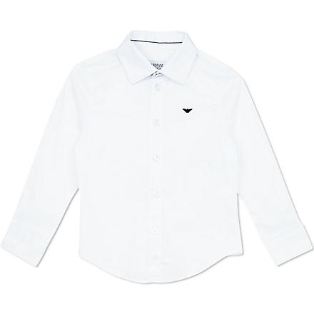 ARMANI JUNIOR Classic poplin shirt 2-8 years (White