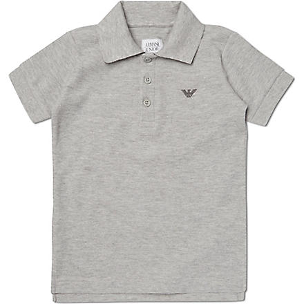 ARMANI JUNIOR Classic polo shirt 2-16 years (Grey