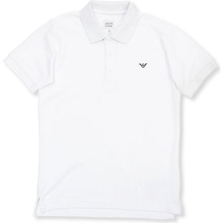 ARMANI JUNIOR Classic polo shirt 2-16 years (White