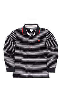 ARMANI JUNIOR Long sleeve striped polo shirt 10-16 years