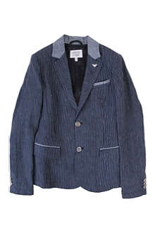 ARMANI JUNIOR Striped linen blazer 10-16 years