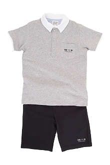 ARMANI JUNIOR Polo shirt and shorts set 2-8 years