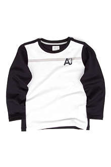ARMANI JUNIOR Long sleeve logo t-shirt 2-8 years