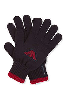 ARMANI JUNIOR Logo-detailed gloves