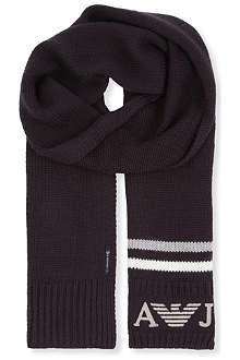 ARMANI JUNIOR Logo-detailed scarf