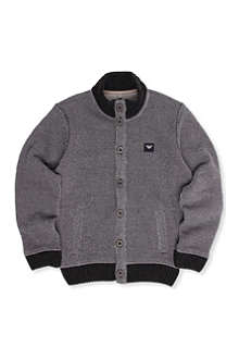 ARMANI JUNIOR Mixed-knit cardigan 10-16 years