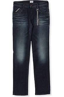 ARMANI JUNIOR Distressed key chain jeans 10-16 years