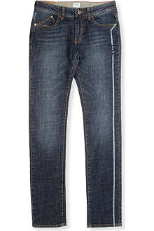 ARMANI JUNIOR Mid-wash straight jeans 10-16 years
