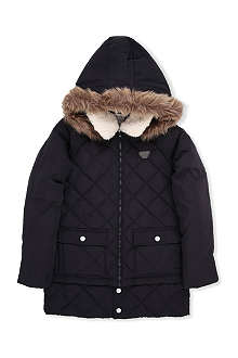 ARMANI JUNIOR Quilted parka jacket 10-16 years