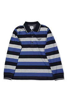 ARMANI JUNIOR Multistripe polo shirt 10-16 years