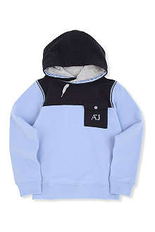 ARMANI JUNIOR Colour-block hooded sweatshirt 10-16 years