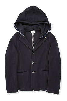 ARMANI JUNIOR Hooded ribbed blazer 10-16 years