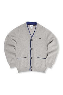 ARMANI JUNIOR Double-layered knitted cardigan 10-16 years