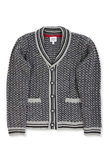 ARMANI JUNIOR Shawl-collar cardigan 10-16 years