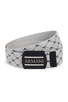 ARMANI JUNIOR Logo-print elasticated belt S-L