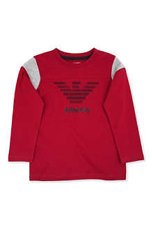 ARMANI JUNIOR Eagle logo long-sleeved t-shirt 2-8 years