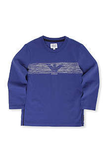 ARMANI JUNIOR Logo long-sleeve t-shirt 10-16 years