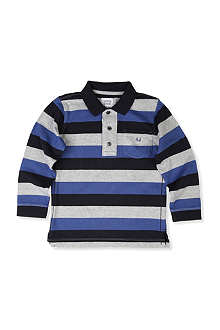 ARMANI JUNIOR Striped polo shirt 2-8 years