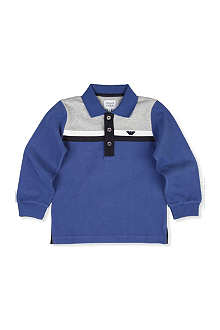 ARMANI JUNIOR Shoulder stripe polo shirt 2-8 years