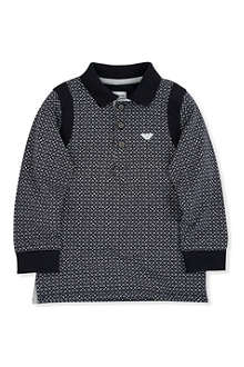 ARMANI JUNIOR Cotton logo polo shirt 2-8 years
