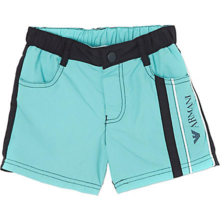 ARMANI JUNIOR Logo swimming shorts 2-8 years (Green