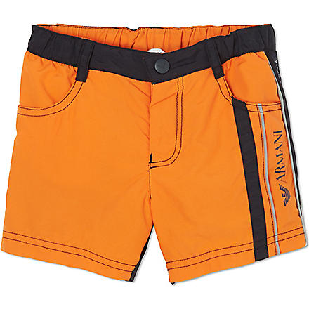 ARMANI JUNIOR Logo swimming shorts 2-8 years (Orange