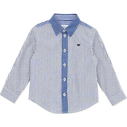 ARMANI JUNIOR Striped shirt 2-8 years (Blue