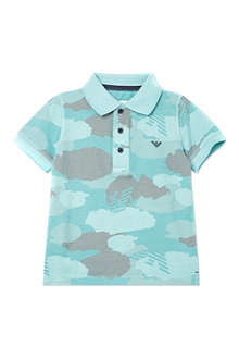 ARMANI JUNIOR Camo cotton polo shirt 2-8 years