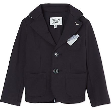 ARMANI JUNIOR Jersey blazer 2-8 years (Navy