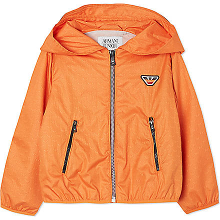 ARMANI JUNIOR Lightweight logo jacket 2-8 years (Orange