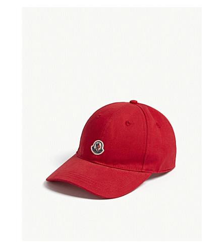 MONCLER Logo baseball cap 8-16 years (Red