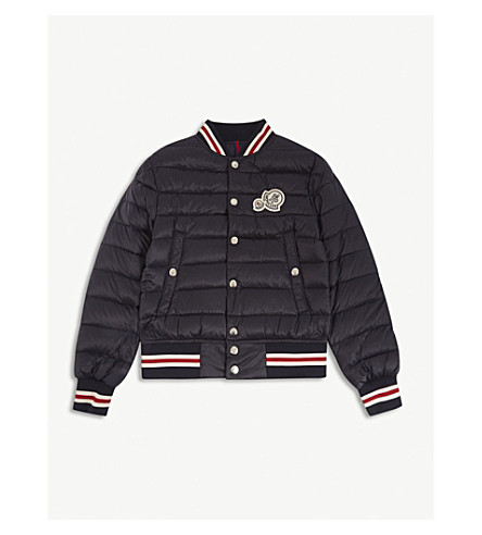 MONCLER Corbiac quilted bomber jacket 4-14 years (Navy