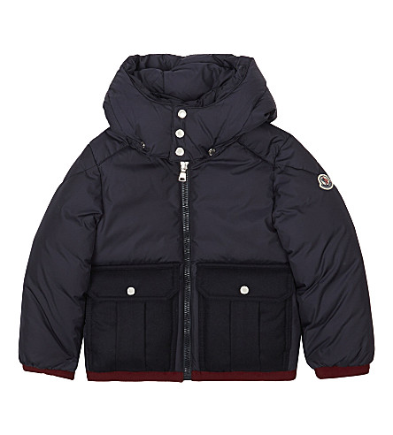 MONCLER Pacome padded down jacket 4-14 years (Navy