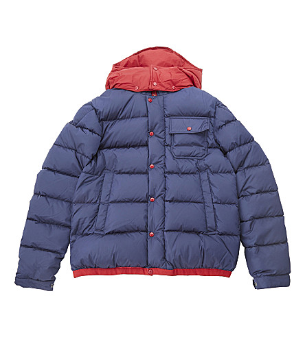 MONCLER Willie padded coat 4-14 years (Navy