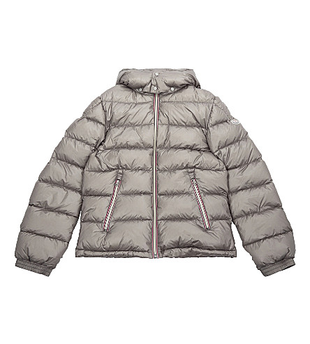 MONCLER New Gaston quilted puffer jacket 4-14 years (Grey