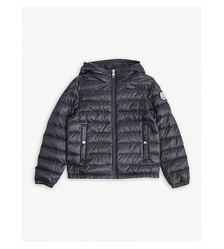 MONCLER Morvan stripe padded jacket 4-14 years (Navy