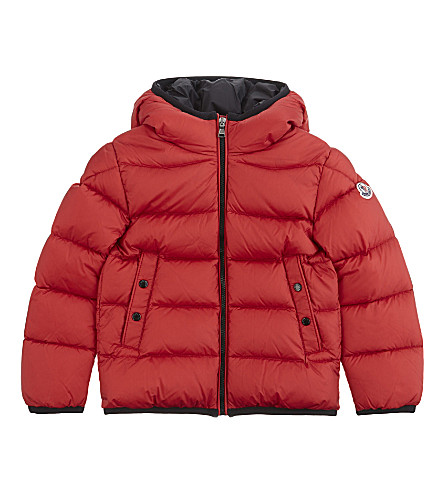 MONCLER Serge quilted puffer jacket 4-14 years (Red