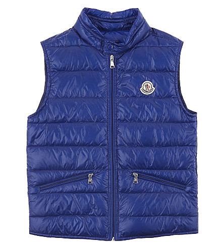 MONCLER Gui puffa vest 4-14 years (Blue