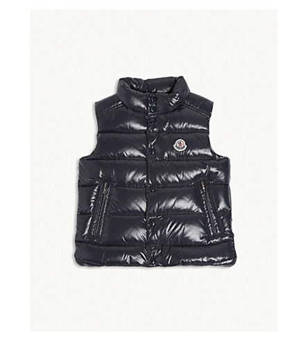 MONCLER Tib down padded gilet 4-14 years (Navy