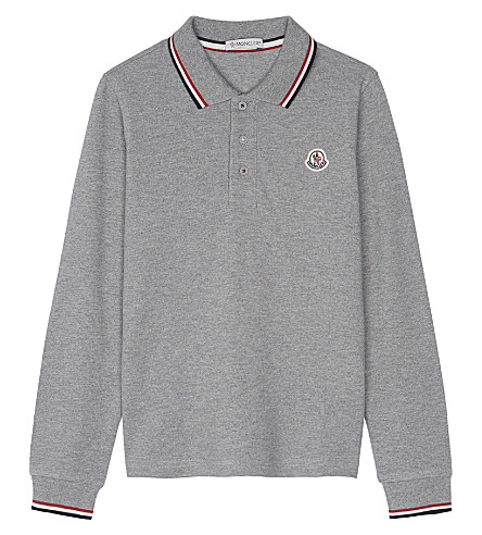 MONCLER Maglia long-sleeve polo shirt 4-14 years (Grey