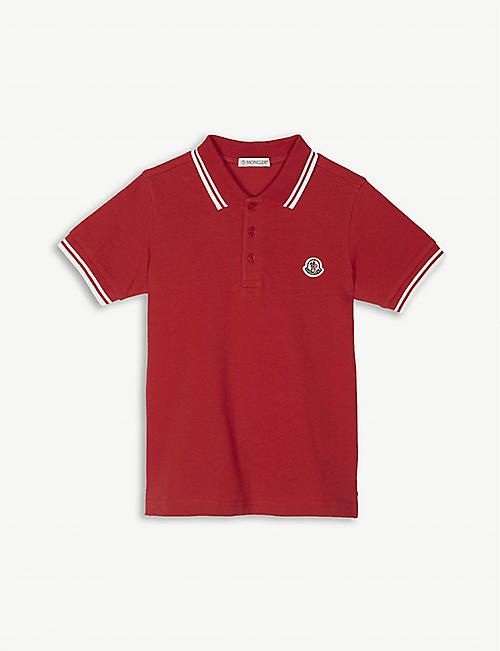 MONCLER Logo pique-cotton polo shirt 4-14 years