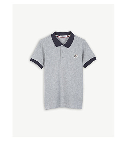 MONCLER Contrast polo shirt 4-14 years (Grey
