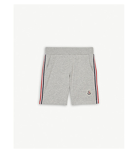 MONCLER Striped cotton jersey shorts 4-14 years (Grey