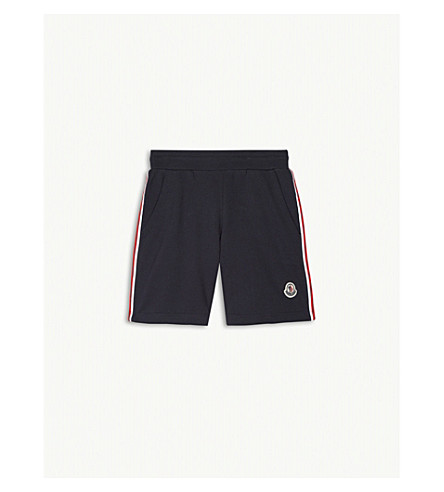 MONCLER Striped cotton jersey shorts 4-14 years (Navy