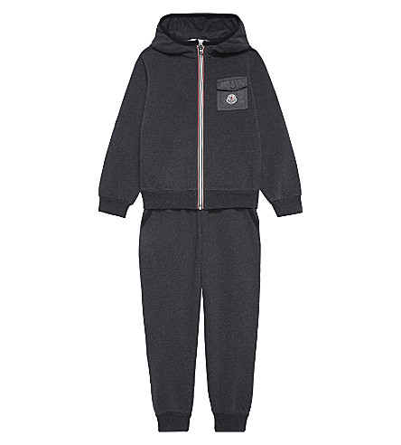MONCLER Maglia cotton tracksuit 4-14 years (Grey