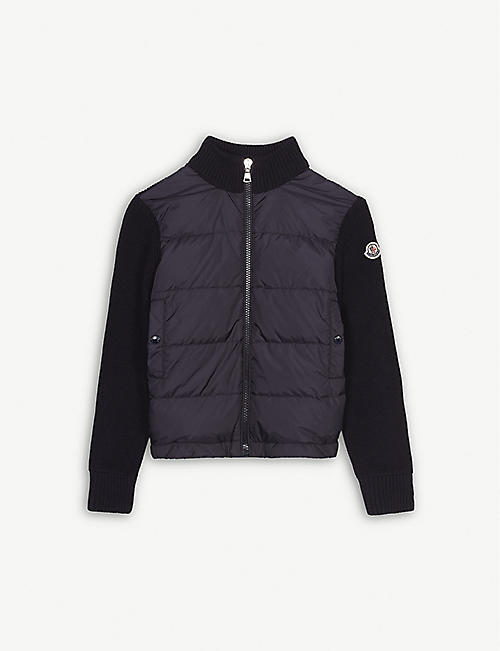 MONCLER Logo knitted quilted jacket 4-14 years
