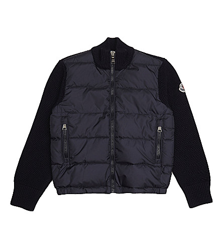 MONCLER Maglia knitted puffer jacket 4-14 years (Navy