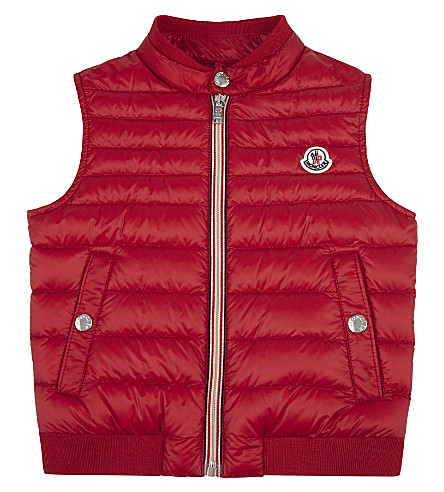 MONCLER Cyriaque quilted vest 4-14 years (455+red