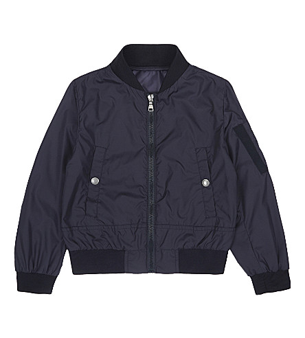 MONCLER Neptune nylon bomber jacket 4-14 years (742+navy